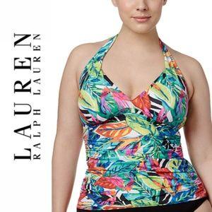 Lauren Ralph Lauren Tropical Print Tankini Top